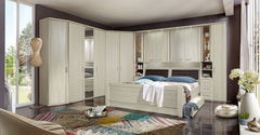 Luxor 4 Overbed Unit With 50cm Glass Doors Angled  overbed wardrobe- Blue Ocean Interiors