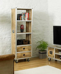 Roadie Chic Tall Bookcase (with drawers)  bookcase- Blue Ocean Interiors