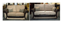 Park Lane 3 + 2 Seater Sofa in Fabric and Leather  fabric sofa- Blue Ocean Interiors