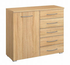 Molmo 1 Door 5 Drawer Combi Chest  chest of drawers- Blue Ocean Interiors