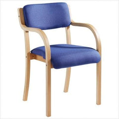 Prague Wood frame Stack Chair arms  conference and meeting chair- Blue Ocean Interiors
