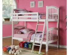 AnnaghmoreCarla Bunk Bed in White FinishBlue Ocean Interiors