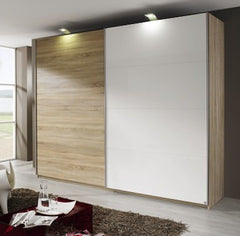 RauchBeluga Base 2 Door Sliding Wardrobe With 1 High Polish DoorBlue Ocean Interiors
