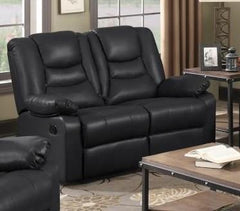 Kirk Full Bonded PU Leather 2 Seater Recliner  leather bed- Blue Ocean Interiors