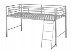 Saturn Mid Sleeper Bunk in Silver Finish  bunk bed- Blue Ocean Interiors