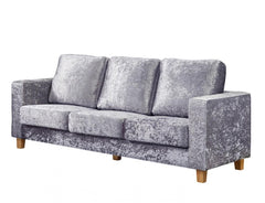 Heartlands FurnitureChesterfield Crushed Velvet Fabric 3+2+1 Sofa SetBlue Ocean Interiors
