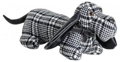 FeblandBlack Tartan Doggy Door StopBlue Ocean Interiors
