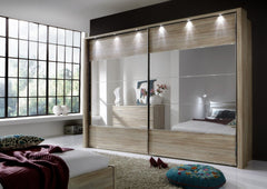 Hollywood Sliding Door Wardrobe with Glass Highlights  sliding door wardrobe- Blue Ocean Interiors