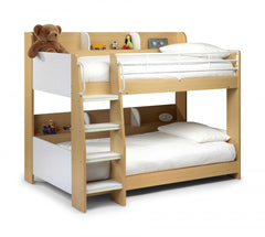 Julian BowenDomino Bunk Bed Maple and WhiteBlue Ocean Interiors