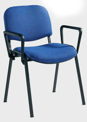 Taurus 4 x Black Frame Stacking Chairs With Arms  conference and meeting chair- Blue Ocean Interiors
