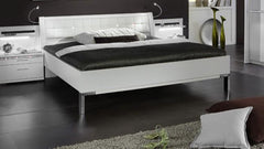 "Dubai 4'6"" Double Futon Bed with Angled Feet In Chrome  wood bed- Blue Ocean Interiors"
