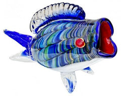 Glass Big-Mouth Fish Ornament  ornament- Blue Ocean Interiors