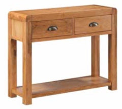 Oakridge Waxed 2 Drawer Hall Table