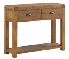 Oakridge Dark 2 Drawer Hall Table