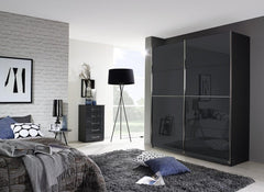 Talara - Colour 181cm Wide Sliding Door Wardrobe with Passepartout  sliding door wardrobe- Blue Ocean Interiors