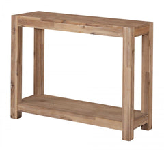 Sahara Console Table in Solid Acacia Wood in a Brushed Sand Finish  console table- Blue Ocean Interiors