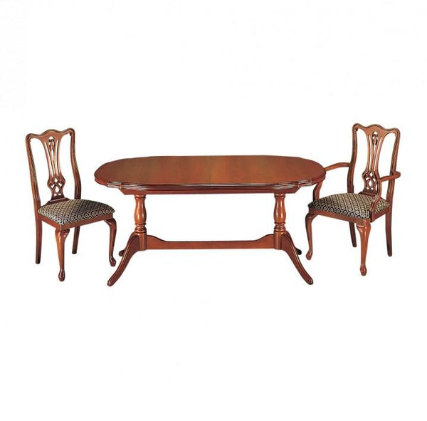 GolaCherry Twin Pedestal Dining Table in Cherry or MahoganyBlue Ocean Interiors
