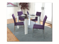 AnnaghmoreAtlantis Clarus Dining Table with 4 Purple ChairsBlue Ocean Interiors