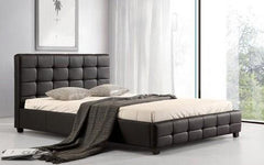 Lattice PU Kingsize Bed  leather bed- Blue Ocean Interiors