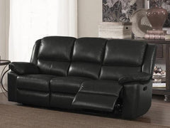Toledo Leather and PVC 3 Seater Sofa  leather sofa- Blue Ocean Interiors