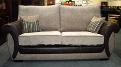 Park Lane 3 Seater Sofa in Fabric and Leather  fabric sofa- Blue Ocean Interiors