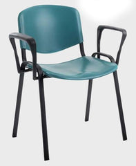 Taurus 4 x Frame Plastic Stacking Chairs With Writing Tablet  conference and meeting chair- Blue Ocean Interiors