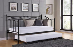 Paris Metal French Day Bed with Trundle  metal bed- Blue Ocean Interiors