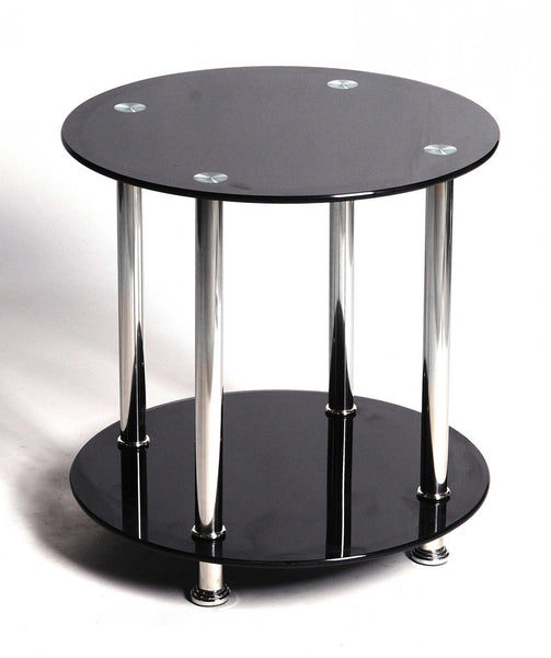Heartlands FurnitureBenton Lamp Table in Black GlassBlue Ocean Interiors