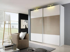 RauchBeluga Plus 2 Door Sliding Wardrobe With High Polish Doors Centre ColourBlue Ocean Interiors