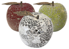 Mosaic Glass Apple  ornament- Blue Ocean Interiors