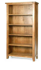 WiseactionFlorence Rustic Oak Large BookcaseBlue Ocean Interiors