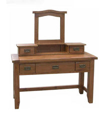 WiseactionFlorence Rustic Oak Dressing Table with 3 DrawersBlue Ocean Interiors