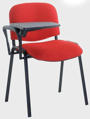 Taurus 4 x Black Frame Stacking Chairs With Writing Tablet  conference and meeting chair- Blue Ocean Interiors