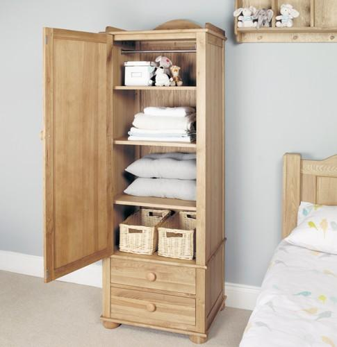 BaumhausAmelie Oak Childrens Single WardrobeBlue Ocean Interiors