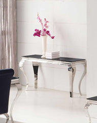 Louis Console Table in Black Glass  console table- Blue Ocean Interiors