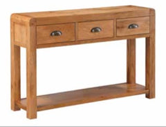 Oakridge Waxed 3 Drawer Hall Table