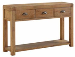 Oakridge Dark 3 Drawer Hall Table