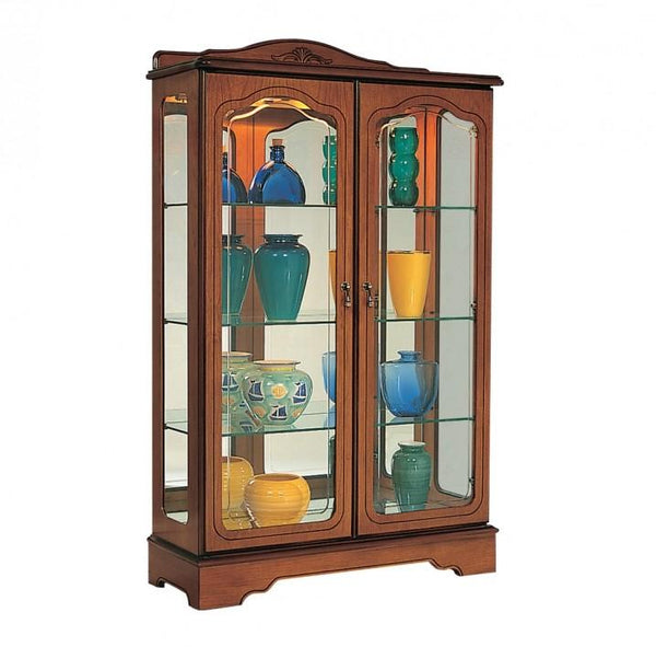 GolaCherry Low Display Cabinet with 2 Crystal Cut DoorsBlue Ocean Interiors