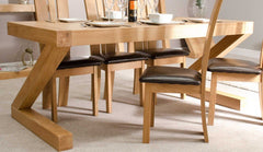 Z Oak Designer Dining Table Large Only  wood dining table- Blue Ocean Interiors