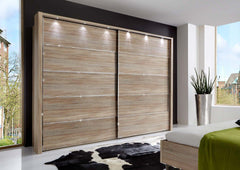 Hollywood Sliding Door Wardrobe 200cm Wide Available in 6 Colours  sliding door wardrobe- Blue Ocean Interiors
