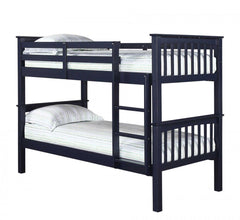 Leo Bunk Bed in Navy Blue  bunk bed- Blue Ocean Interiors