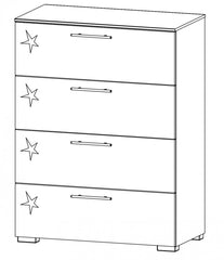 Harvard-C 4 Drawer Chest  chest of drawers- Blue Ocean Interiors