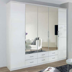 RauchEllwangen 5 Door Combi Wardrobe with Centre MirrorsBlue Ocean Interiors