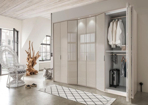 WiemannBoston Combi Wardrobe W244cm with Bi Fold Doors and Angled ElementsBlue Ocean Interiors