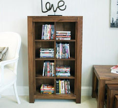 Mayan DVD / CD Storage Cabinet in Walnut  cd dvd storage- Blue Ocean Interiors