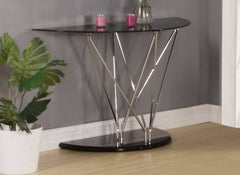 Uplands Black Glass Console Table  console table- Blue Ocean Interiors