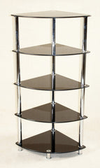 Heartlands FurnitureCologne Corner 5 Tier Stand in Black GlassBlue Ocean Interiors
