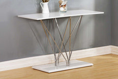 Hagley High Gloss White Console Table  console table- Blue Ocean Interiors