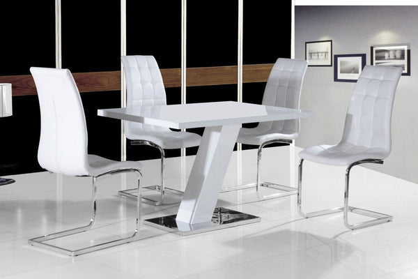 GiataliaAliyah Dining Table with 4 White Enzo ChairsBlue Ocean Interiors