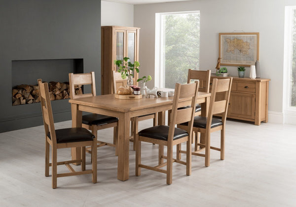Vida LivingBreeze 180cm Extending Dining Table and 6 Breeze ChairsBlue Ocean Interiors